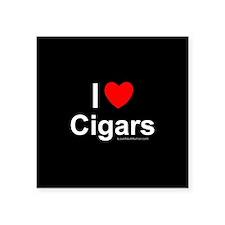 """Cigars Square Sticker 3"""" x 3"""""""
