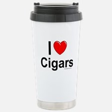 Cigars Stainless Steel Travel Mug