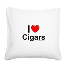 Cigars Square Canvas Pillow