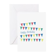 Birthday Banner Flags Greeting Cards