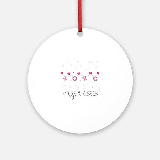 Hugs Kisses Ornament (Round)