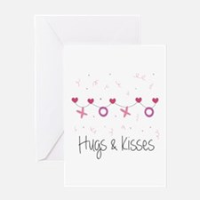 Hugs Kisses Greeting Cards