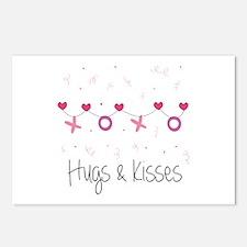 Hugs Kisses Postcards (Package of 8)