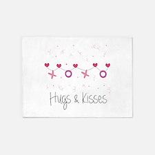 Hugs Kisses 5'x7'Area Rug