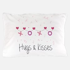 Hugs Kisses Pillow Case