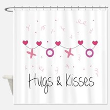 Hugs Kisses Shower Curtain