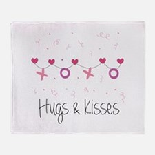 Hugs Kisses Throw Blanket