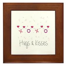 Hugs Kisses Framed Tile