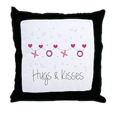 Hugs Kisses Throw Pillow