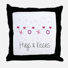 Hugs Kisses Throw Pillow