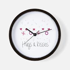 Hugs Kisses Wall Clock