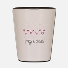 Hugs Kisses Shot Glass