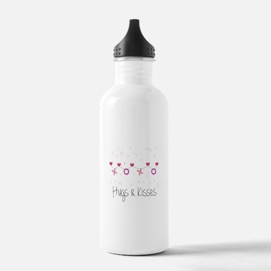 Hugs Kisses Water Bottle