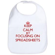 Keep Calm by focusing on Spreadsheets Bib