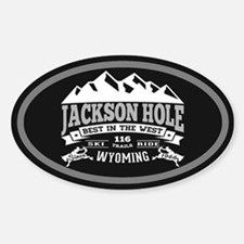 Jackson Hole Vintage Sticker (Oval)