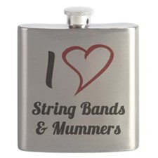 I Love Strings Bands and Mummers Flask