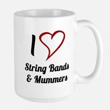 I Love Strings Bands and Mummers Mugs