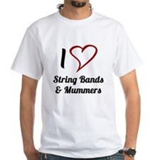 I Love Strings Bands and Mummers T-Shirt