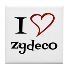 I Love Zydeco Tile Coaster