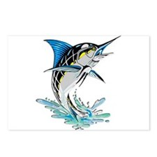 Leaping Marlin copy Postcards (Package of 8)