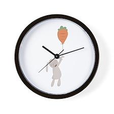 Carrot Balloon Wall Clock