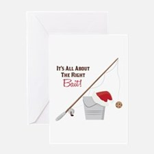 The Right Bait Greeting Cards