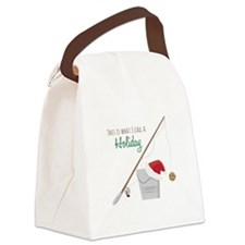 A Holiday Canvas Lunch Bag