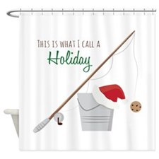 A Holiday Shower Curtain
