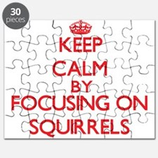 Keep Calm by focusing on Squirrels Puzzle
