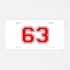 63 Aluminum License Plate