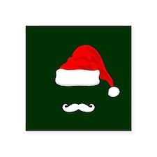 Santa Hat and Mustache Sticker