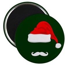 Santa Hat and Mustache Magnets