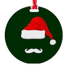 Santa Hat and Mustache Ornament