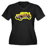 Beach Buggy Women's Plus Size V-Neck Dark T-Shirt