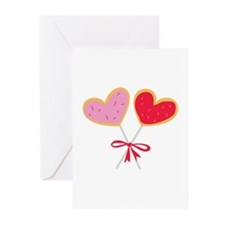 Heart Lollipop Greeting Cards
