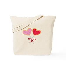 Heart Lollipop Tote Bag