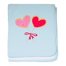 Heart Lollipop baby blanket