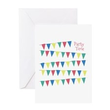 Party Time Flags Greeting Cards