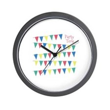 Party Time Flags Wall Clock