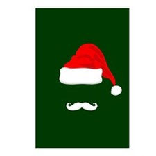 Santa Hat and Mustache Postcards (Package of 8)