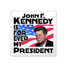 """JFK Forever Square Sticker 3"""" x 3"""""""