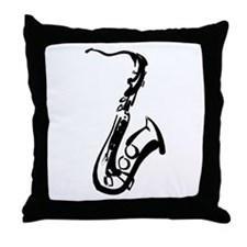 Saxophone Throw Pillow