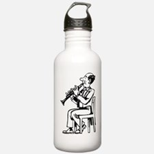 Clarinet Player Water Bottle