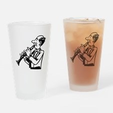 Clarinet Player Drinking Glass