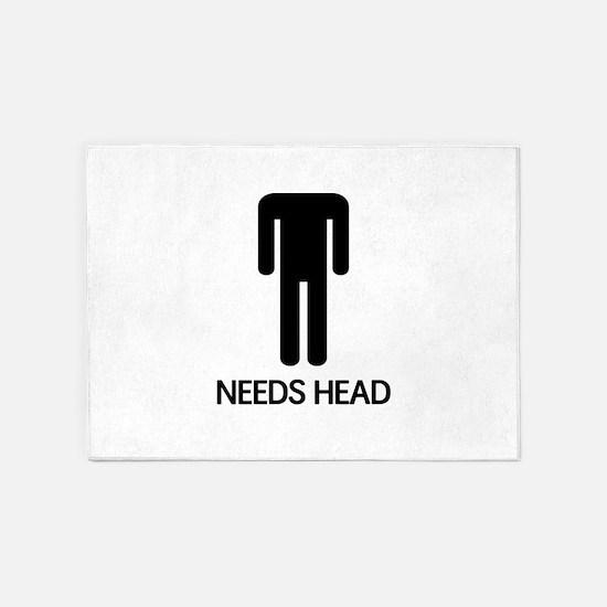 Needs Head 5'x7'Area Rug
