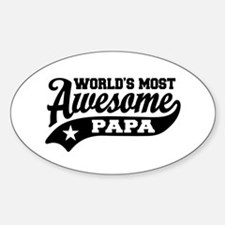World's Most awesome Papa Decal