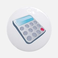 School Calculator Ornament (Round)