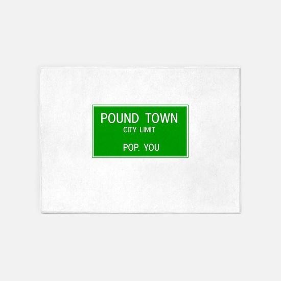 Poundown City Limits 5'x7'Area Rug