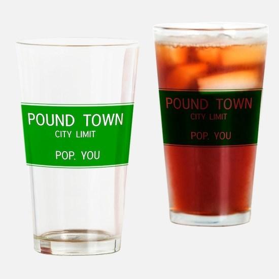 Poundown City Limits Drinking Glass