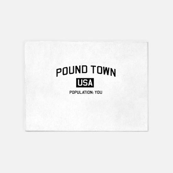 Poundtown Population You 5'x7'Area Rug